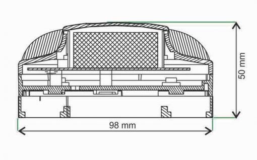 دودی فتو الکتریک سیستم اعلام حریق زیتکس zitex مدل ZI S