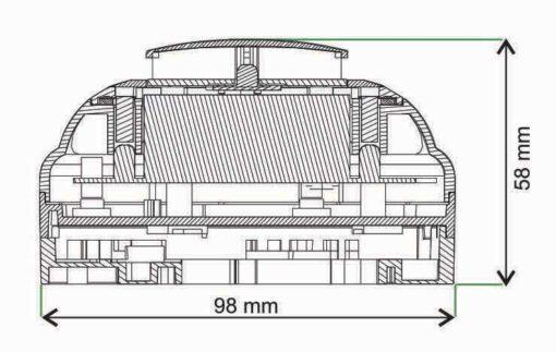 دودی و حرارتی مولتی ترکیبی سیستم اعلام حریق زیتکس zitex مدل ZI HSD