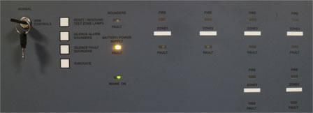 صفحه کلید کنترل پنل اعلام حریق آریاک
