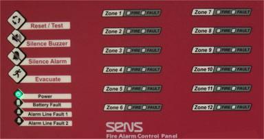 صفحه کلید کنترل پنل اعلام حریق سنس