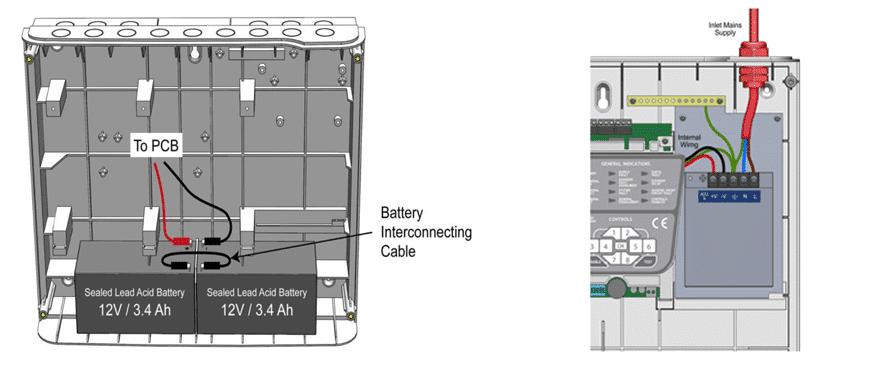 سیم کشی سیستم اعلام حریق باتری