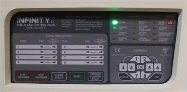 صفحه کلید کنترل پنل اعلام حریق