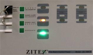 صفحه کلید کنترل پنل اعلام حریق زیتکس